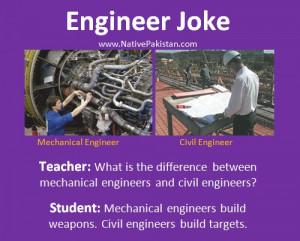 ... between Mechanical Engineer and Civil Engineer? - Best Engineer Jokes