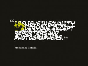 Quote about believing in equality