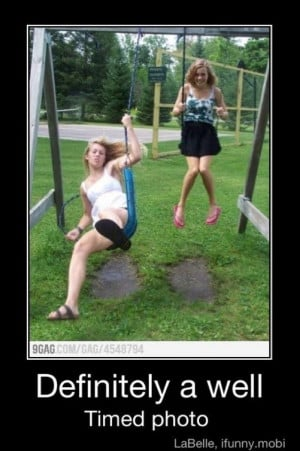 Definitely a well timed photo!(:
