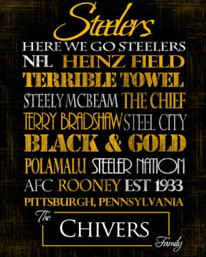 Pittsburgh Steelers: Ready to Hang Standout. $60.00, via Etsy. Need to ...