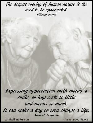 Gratitude expressing appreciation