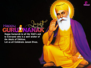 Happy Guru Nanak Jayanti Quotes with eCards and Wallpapers