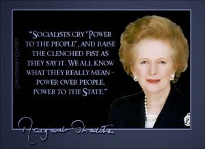 The Right Honourable Margaret Thatcher