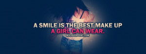 Smile Is The Best Make Up Facebook Cover