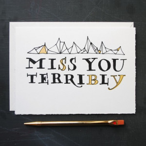 Miss You Terribly/// Frances Lab