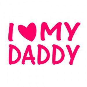 bib i love heart my daddy cute baby s bib