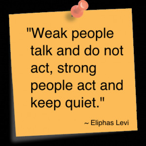 Being Quiet does not Equal Being Weak