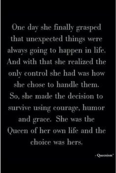 Motivational Monday! Queen quote, Aim to be gracious! More