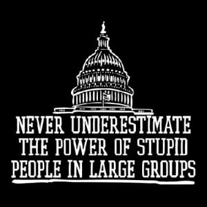 ... - never underestimate the power of stupid people in large groups