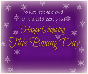 Happy Boxing Day 2014 Wishes Quotes Greetings Sale USA UK NYC