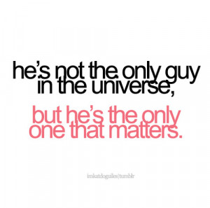 cute, guy, love, matters, only, quote, sayings, words