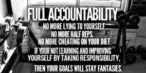 Staying Accountable