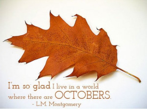 October quotes and books