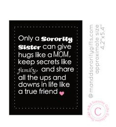 98 Sorority Sister Quote magnet. Sorority magnets that touch the ...