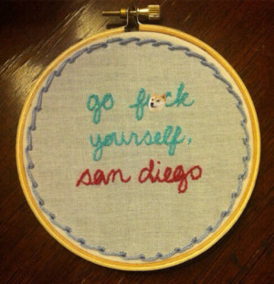Go F%ck Yourself San Diego Anchorman Quote Funny Vintage Handmade ...