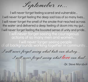 ... never forget feeling scared and vulnerable… I will never forget