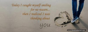 Love Quotes - Thinking About You Facebook Cover