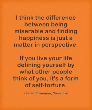 Finding happiness quote_Sarah Silverman