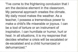 teaching quote by Dr. Haim Ginott