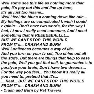 Crash And Burn Pat Travers...