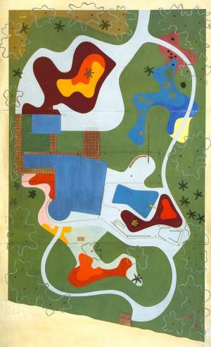 Roberto Burle Marx, modernist Brazilian landscape artist in late 50s ...