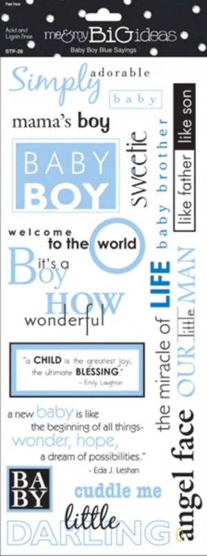 Baby Boy Sayings Stickers 5.5