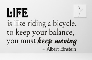 Albert Einstein Life is like...Inspirational Wall Decal Quotes