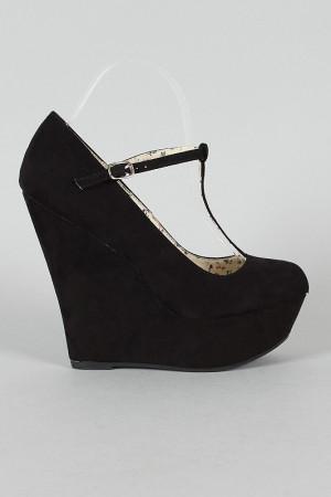 Zapatos Tacon Corrido De Moda Negros Talla 36.5 Para Mujer.