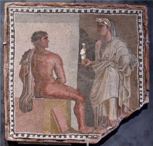 Mosaic of Orestes, main character in Aeschylus' only surviving trilogy ...