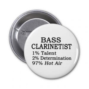 bass clarinet player