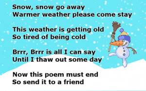 snow snow go away quotes