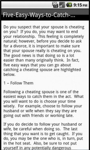 View Bigger Signs Cheating