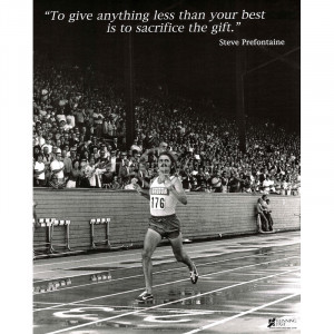 Steve Prefontaine The Gift Sports Poster Print - 24x30