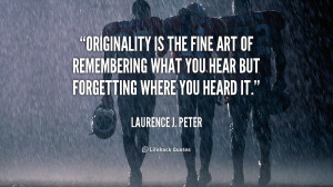 Laurence J Peter Quote History