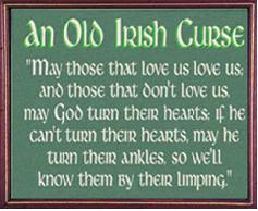 Thirteen Irish sayings, curses and blessings