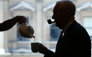 Tony Benn would drink tea from massive mugs, claiming once that he ...