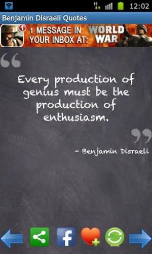 View bigger - Benjamin Disraeli Quotes FREE! for Android screenshot