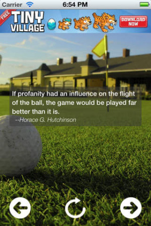 Golf Quotes 'n' Jokes for iPhone, iPod touch and iPad on the iTunes ...