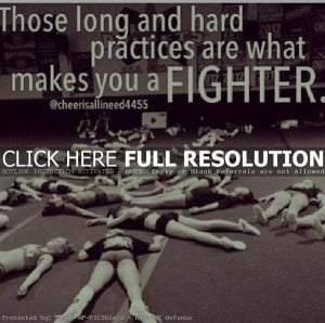 cheerleading quotes, inspiring, motivational, sayings, fighter