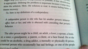 Quote from Codependent No More. This book was eye opening to me. It ...