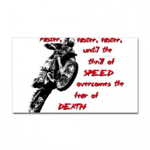 Bikes Gifts > Bikes Stickers > Faster Dirt Bike Motocross Quote Saying ...