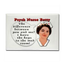 Psych Nurse Fridge Magnets