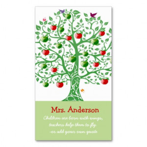 Apple Tree Teacher Quote Teacher Pack Of Standard Business Cards
