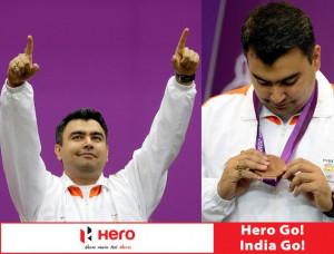 gagan narang 2012 bronze medal for 10m air rifle bronze medalist gagan ...