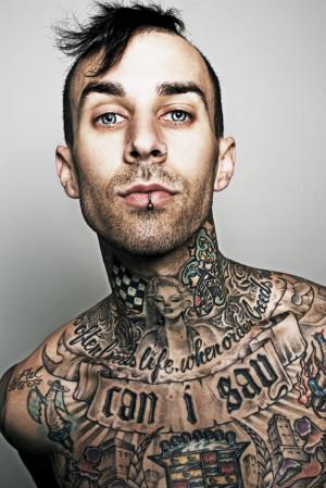 Travis Barker Upper Body Tattoos