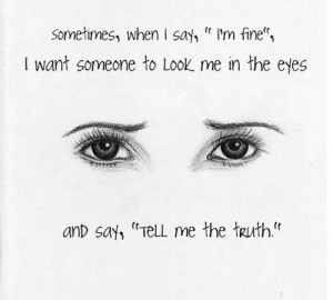 drawing Illustration truth text depressed depression eyes words pain ...
