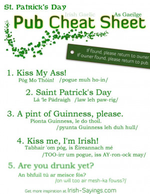 Irish Proverbs And Sayings...