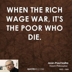 When the rich wage war, it's the poor who die.