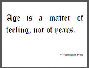 Washington Irving Quote on Age
