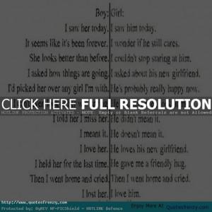 ... Girl Boy Heartbreak Love Feeling Emotions Girlfriend Boyfriend Quote